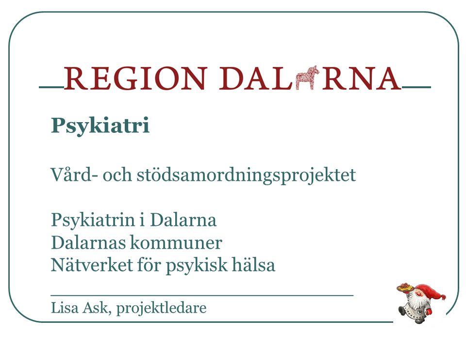Psykiatri Vård- och stödsamordningsprojektet Psykiatrin i Dalarna