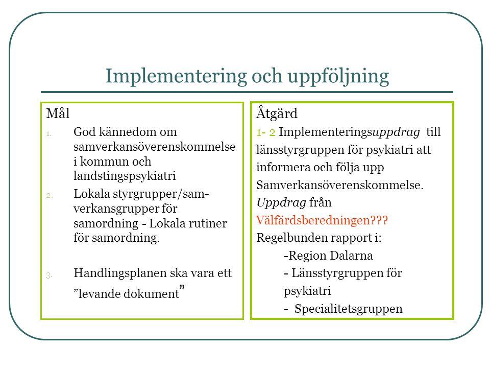 Implementering och uppföljning