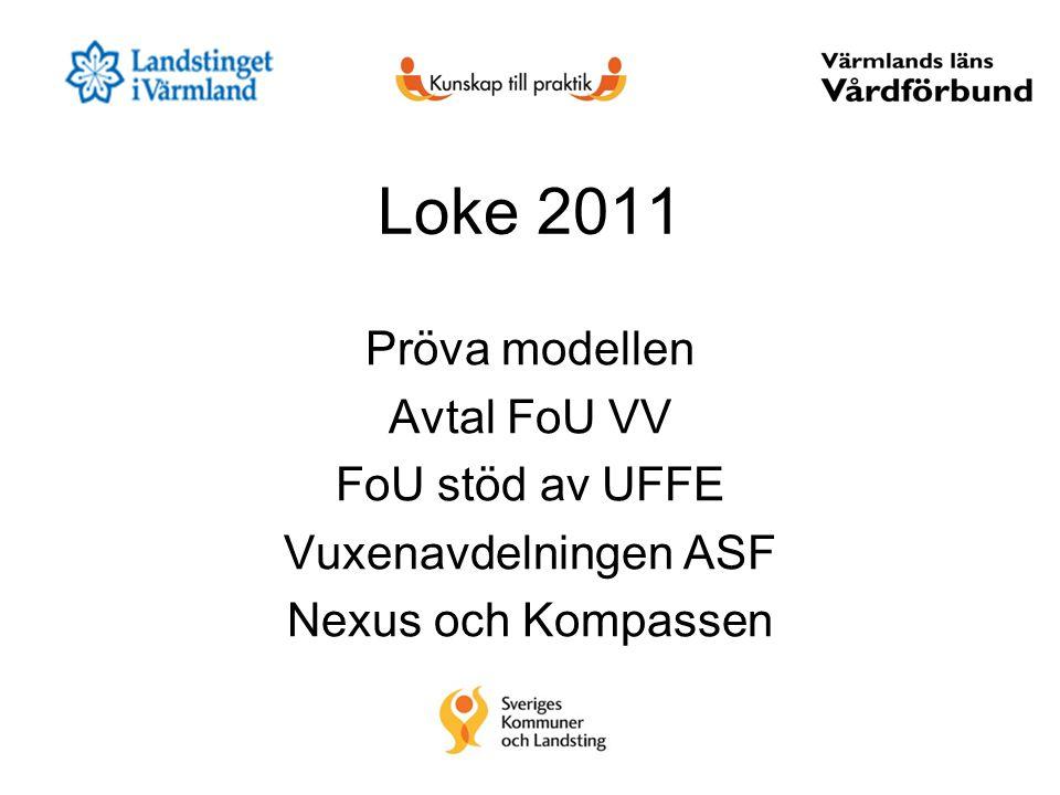 Loke 2011 Pröva modellen Avtal FoU VV FoU stöd av UFFE