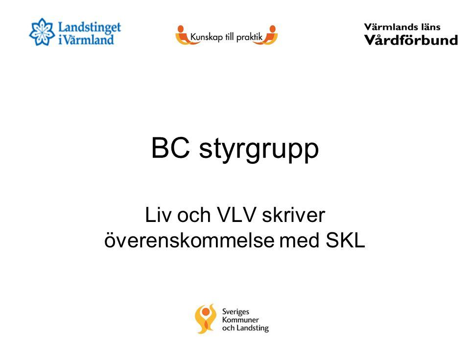 Liv och VLV skriver överenskommelse med SKL