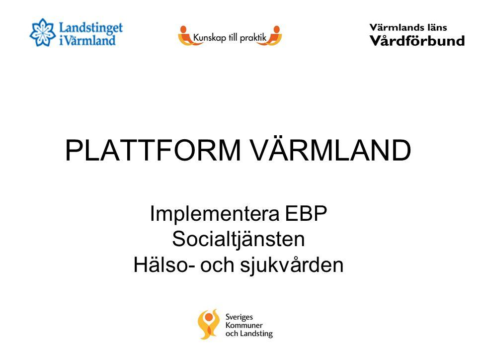 Implementera EBP Socialtjänsten Hälso- och sjukvården