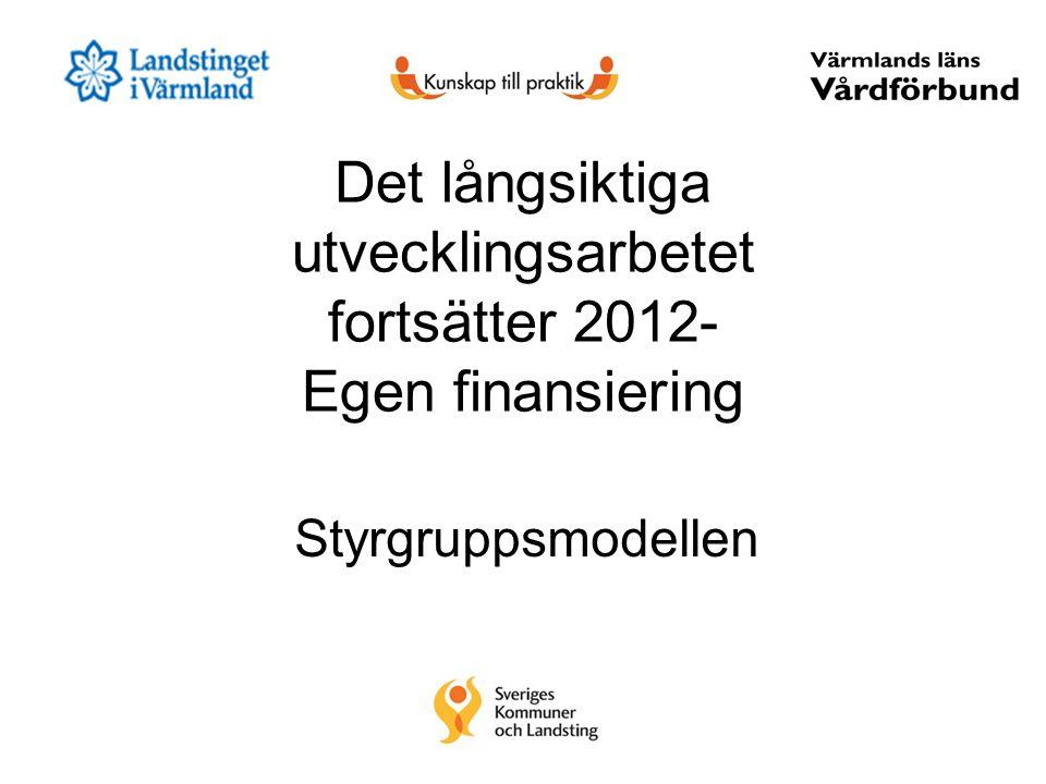 Det långsiktiga utvecklingsarbetet fortsätter 2012- Egen finansiering
