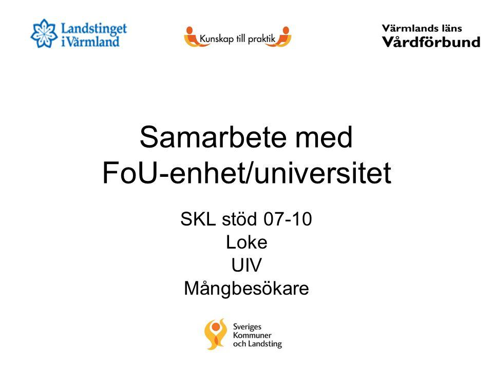 Samarbete med FoU-enhet/universitet