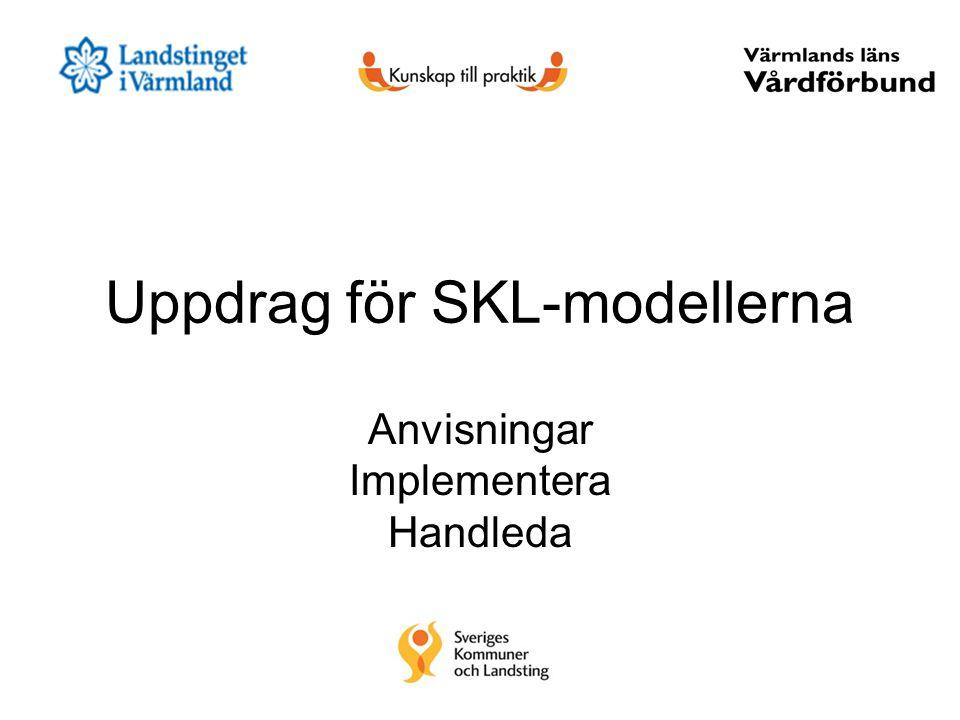 Uppdrag för SKL-modellerna