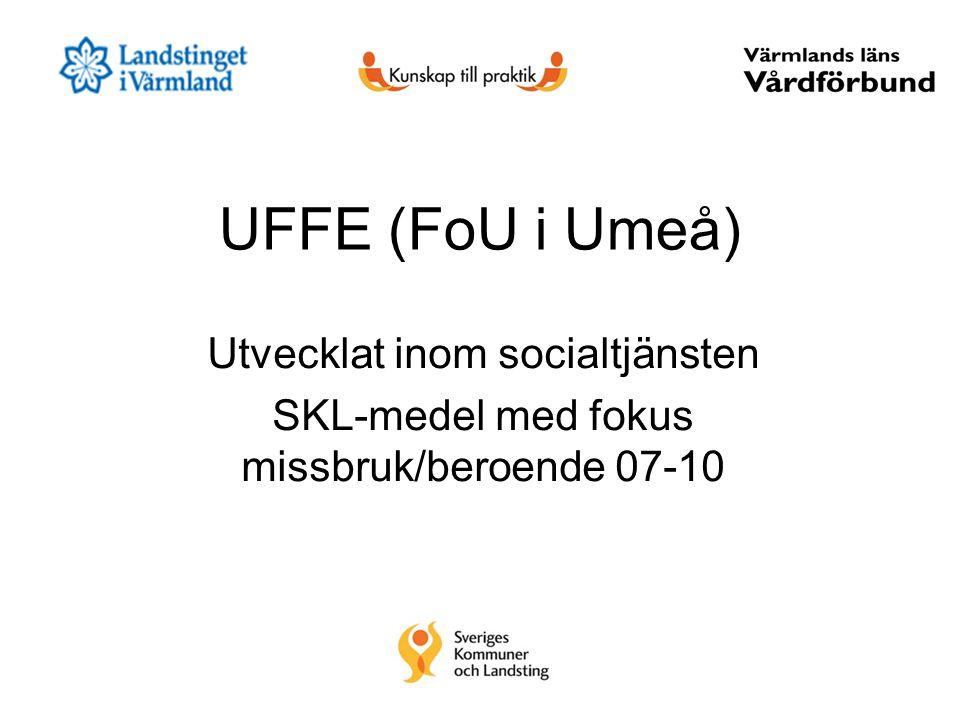 UFFE (FoU i Umeå) Utvecklat inom socialtjänsten