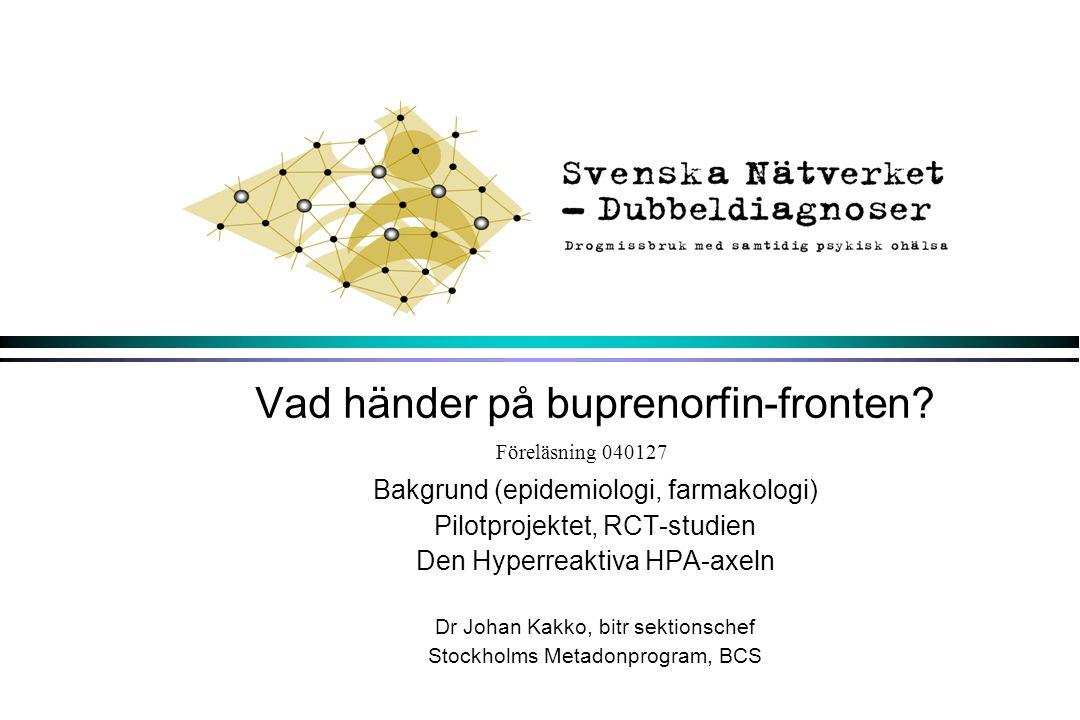 Vad händer på buprenorfin-fronten
