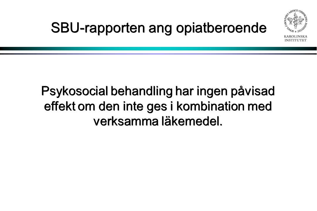 SBU-rapporten ang opiatberoende