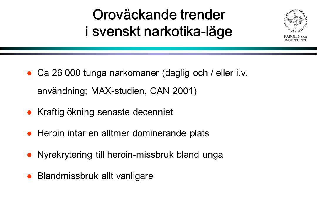 Oroväckande trender i svenskt narkotika-läge