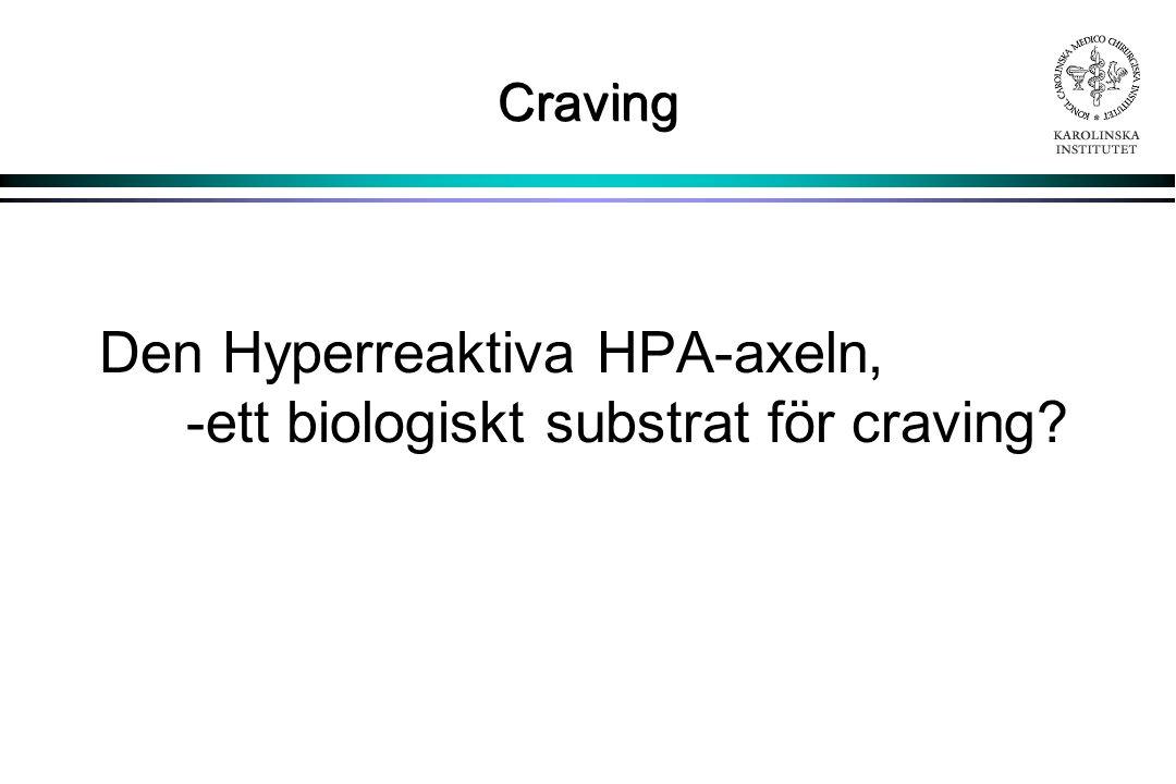 Den Hyperreaktiva HPA-axeln, -ett biologiskt substrat för craving