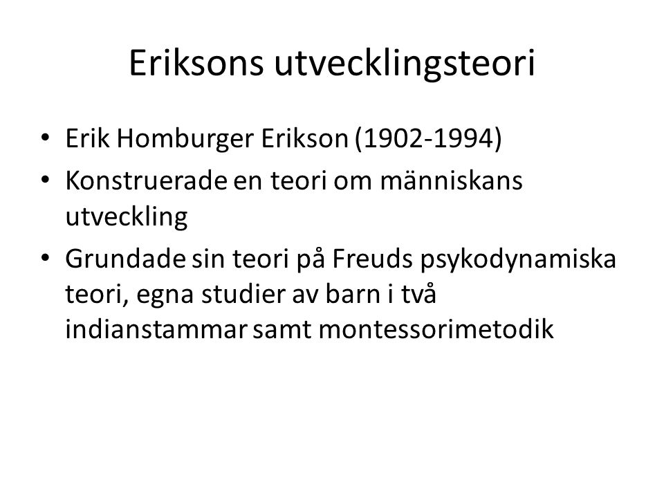 Eriksons utvecklingsteori