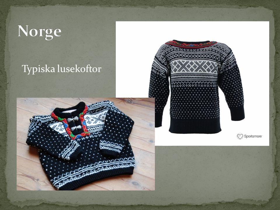 Norge Typiska lusekoftor