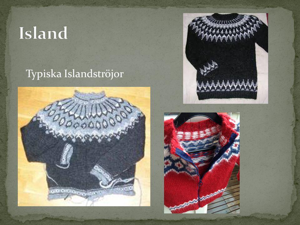 Island Typiska Islandströjor