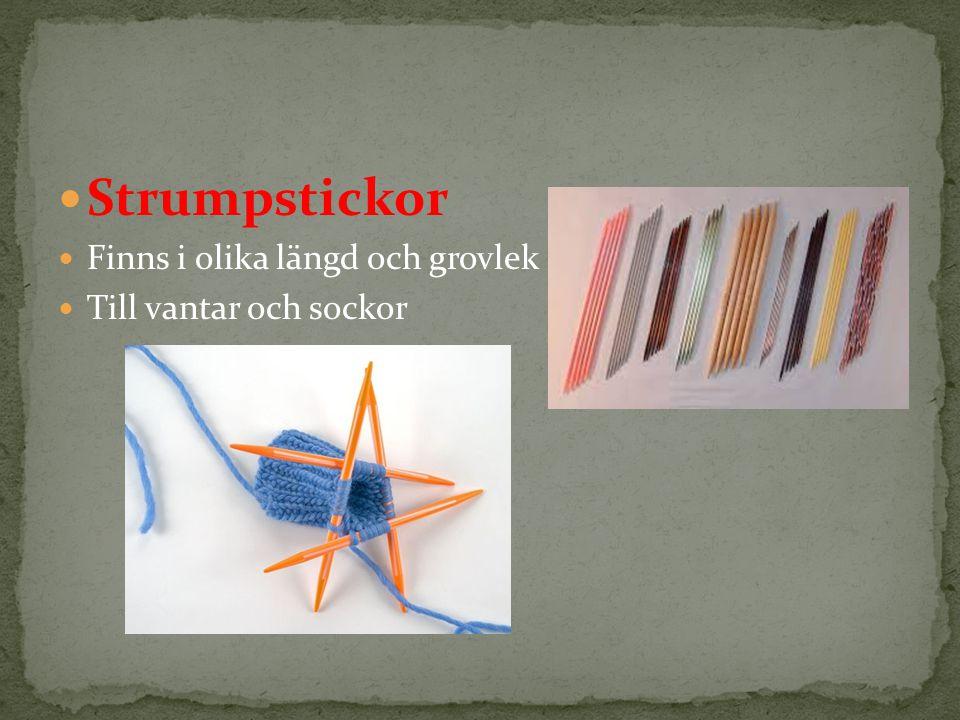 Strumpstickor Finns i olika längd och grovlek Till vantar och sockor