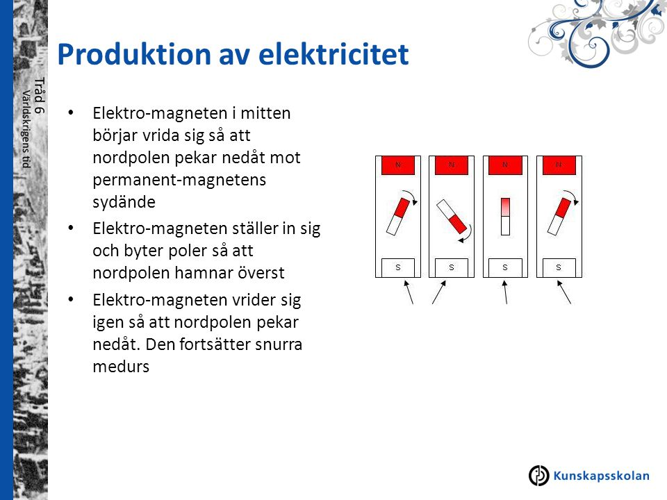 Produktion av elektricitet
