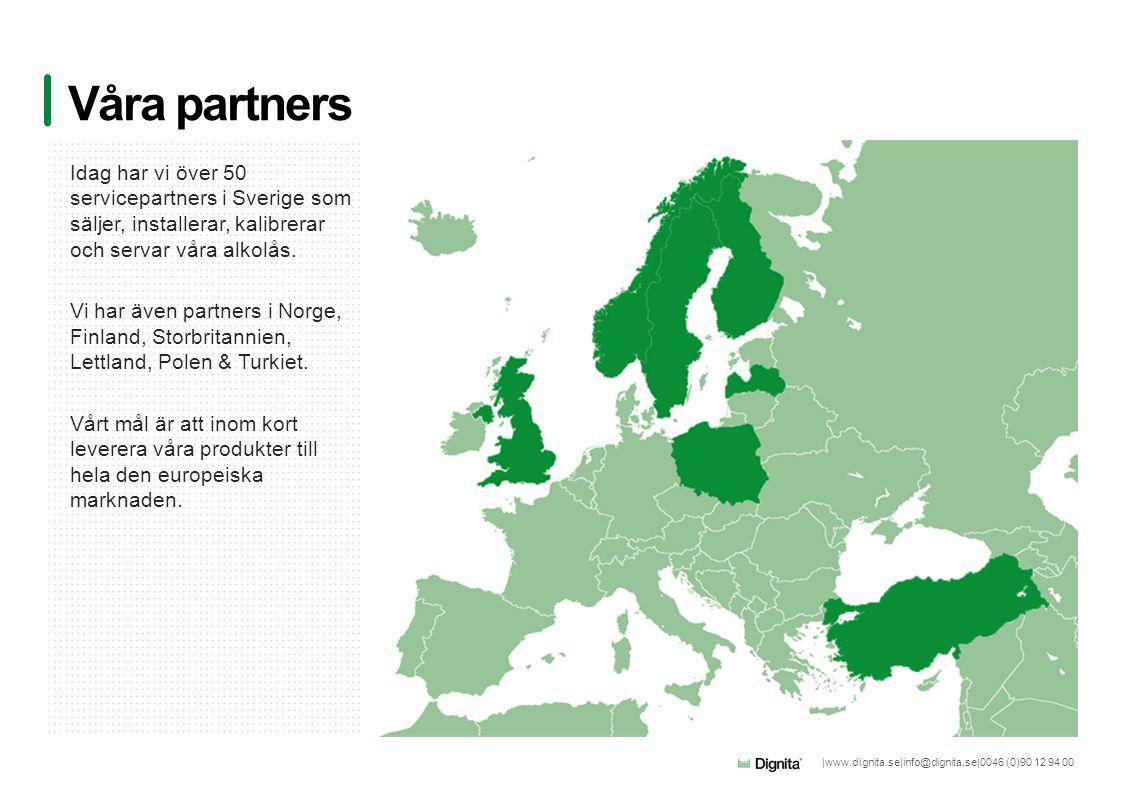 Våra partners Idag har vi över 50 servicepartners i Sverige som säljer, installerar, kalibrerar och servar våra alkolås.
