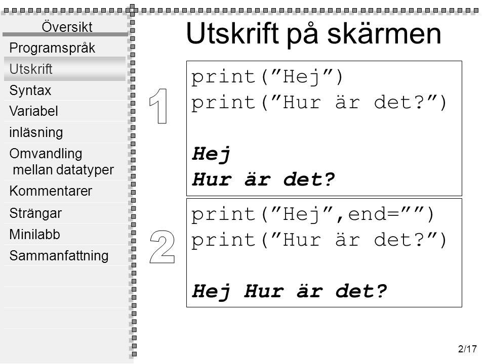 Syntax Syntax betyder språkets struktur.