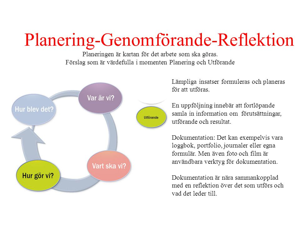 Planering-Genomförande-Reflektion