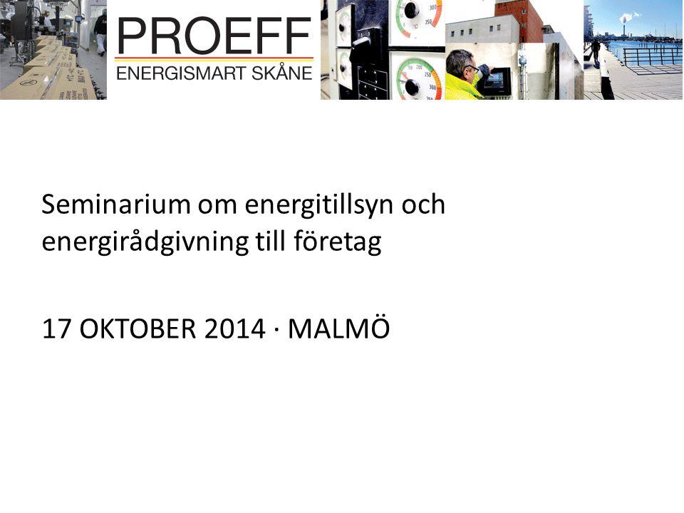 Seminarium om energitillsyn och energirådgivning till företag