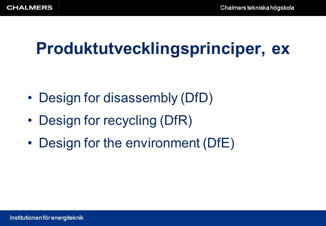 Produktutvecklingsprinciper, ex