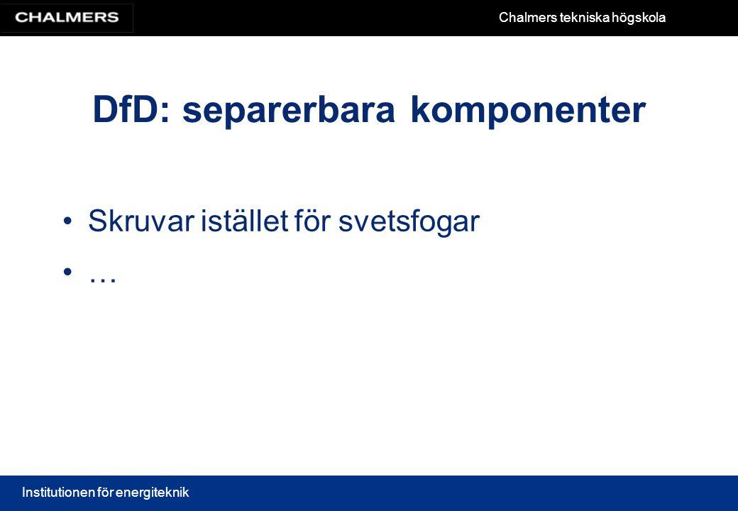 DfD: separerbara komponenter