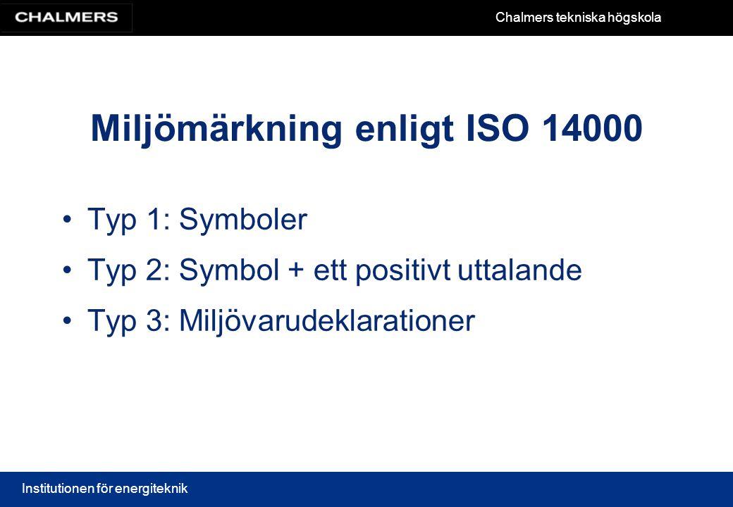 Miljömärkning enligt ISO 14000