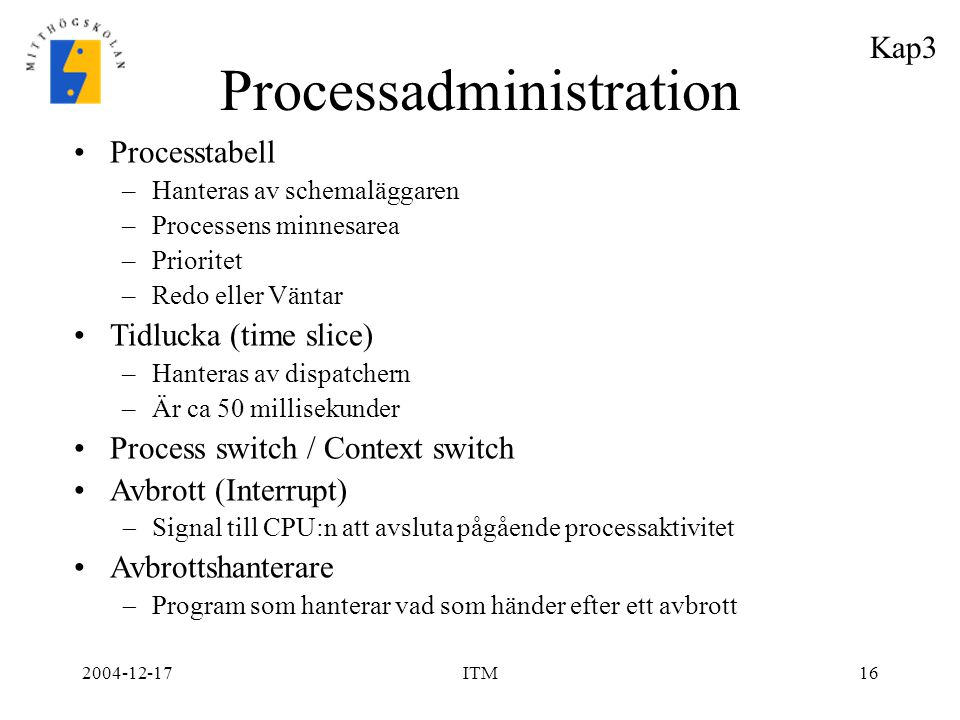 Processadministration
