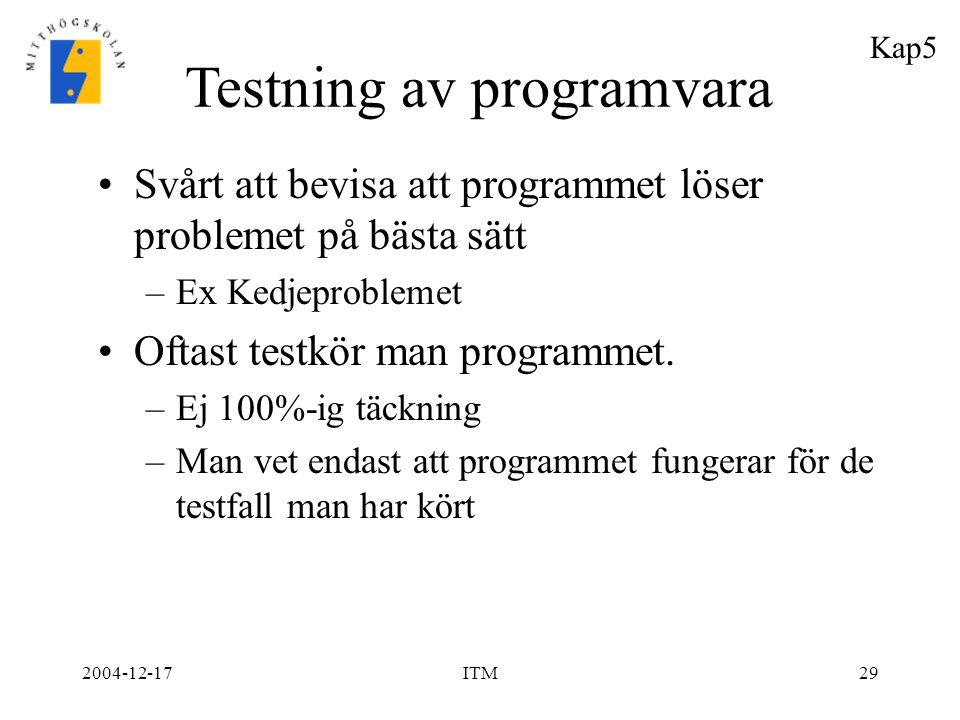 Testning av programvara