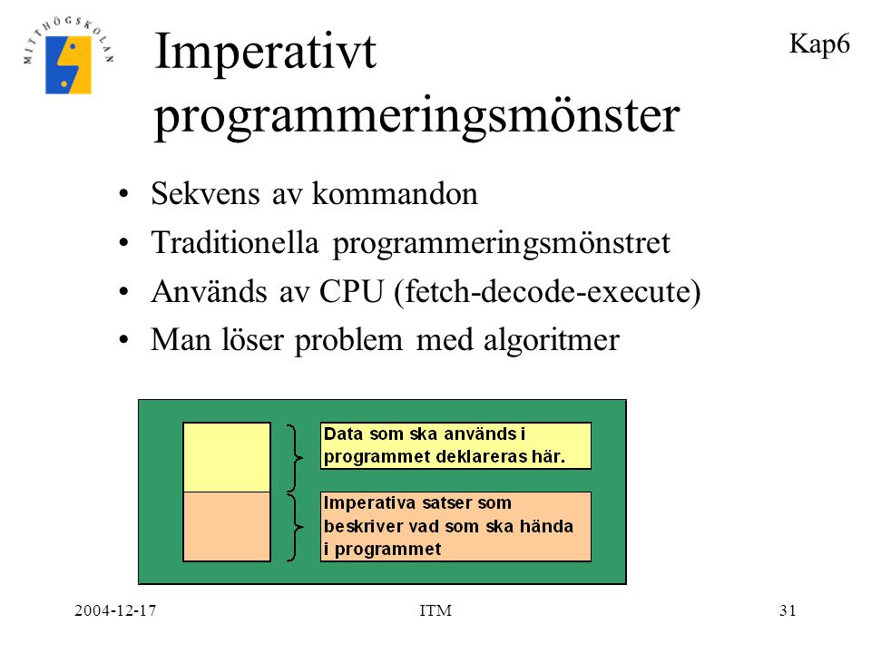 Imperativt programmeringsmönster