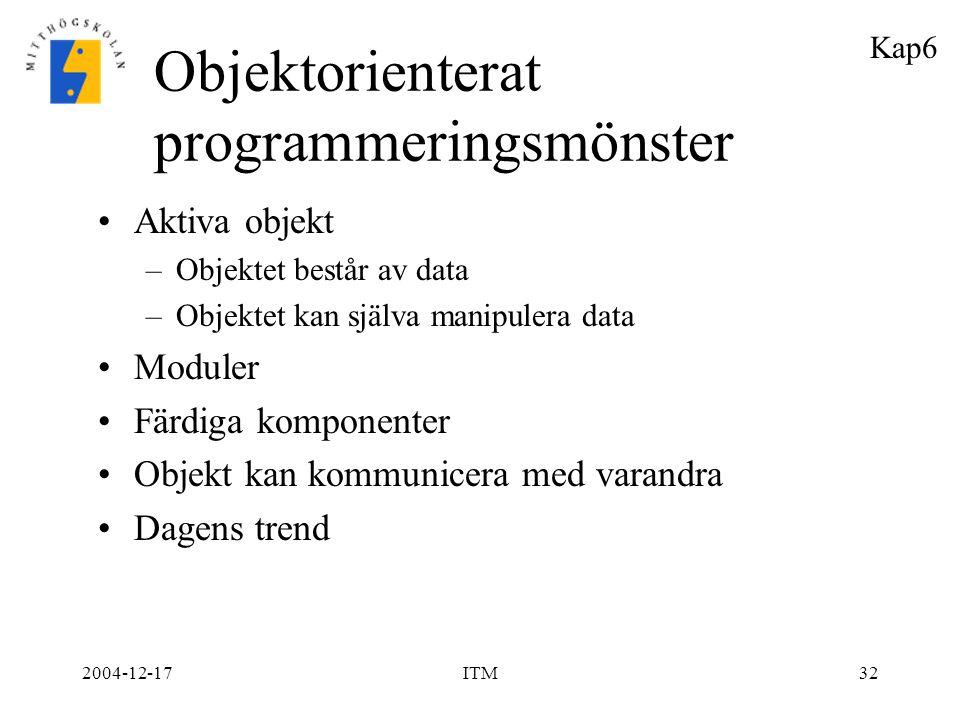 Objektorienterat programmeringsmönster