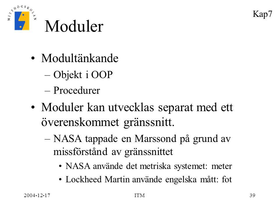 Moduler Modultänkande