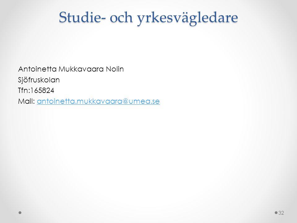 Studie- och yrkesvägledare