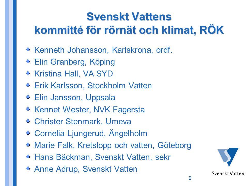 Svenskt Vattens kommitté för rörnät och klimat, RÖK