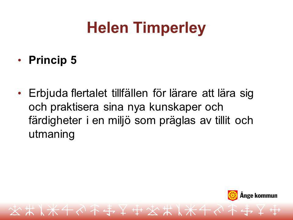 Helen Timperley Princip 5