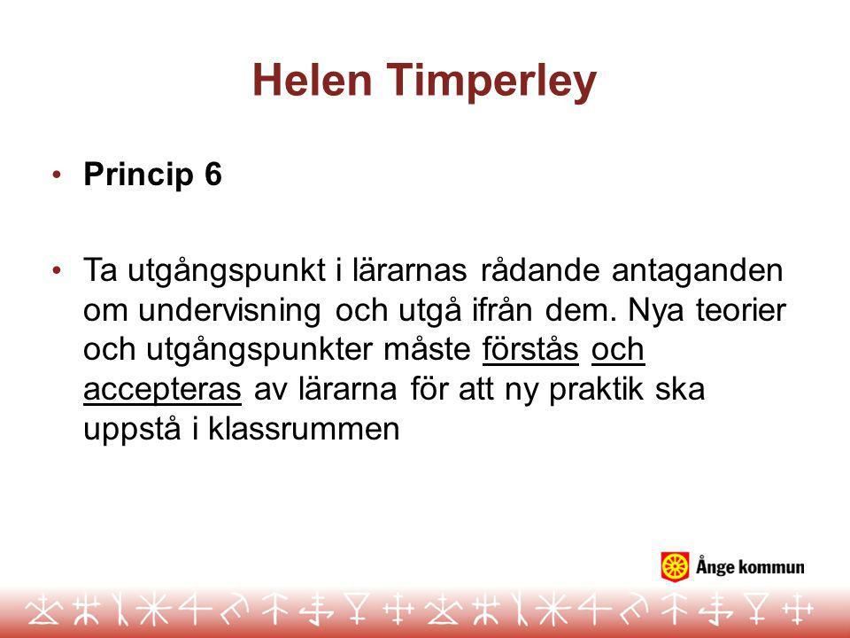 Helen Timperley Princip 6