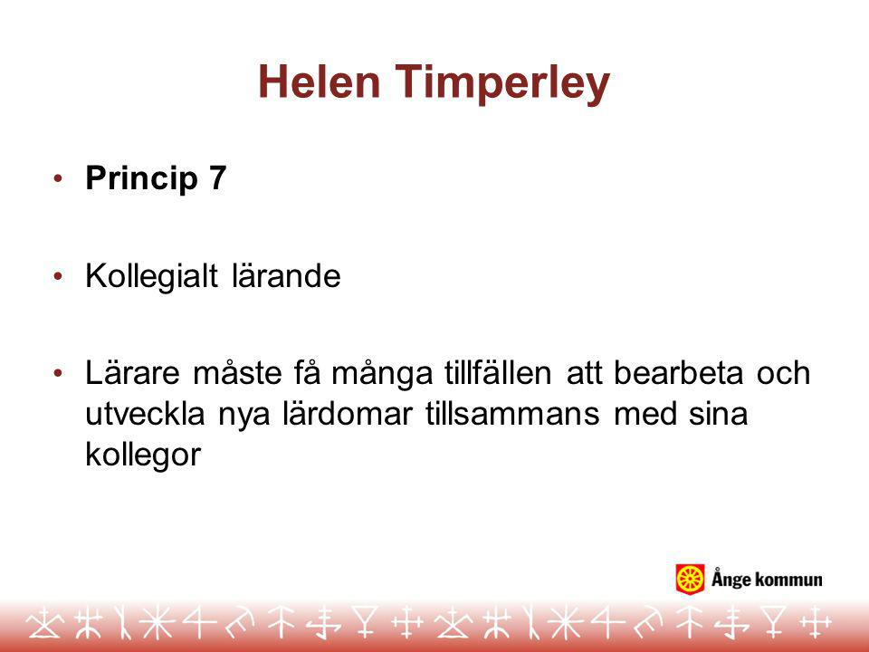 Helen Timperley Princip 7 Kollegialt lärande