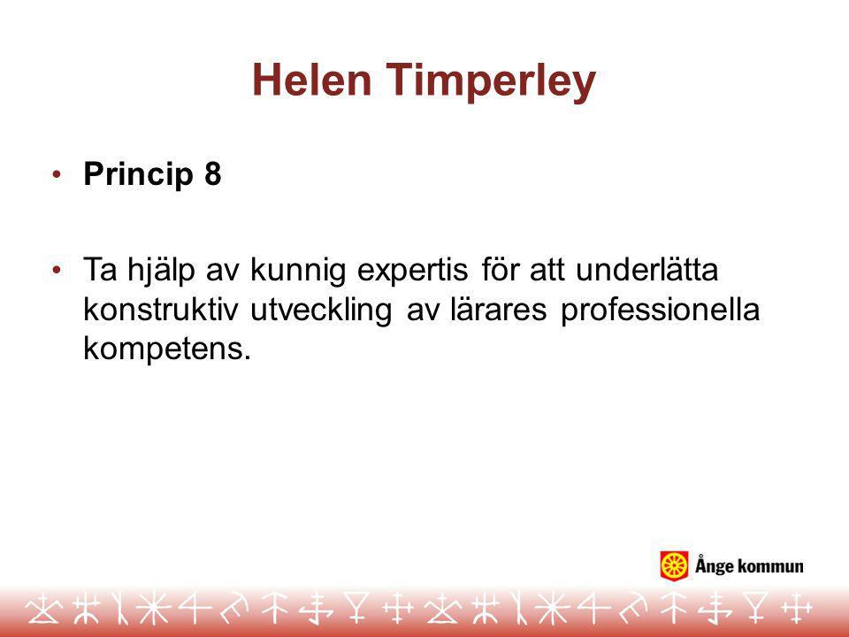 Helen Timperley Princip 8