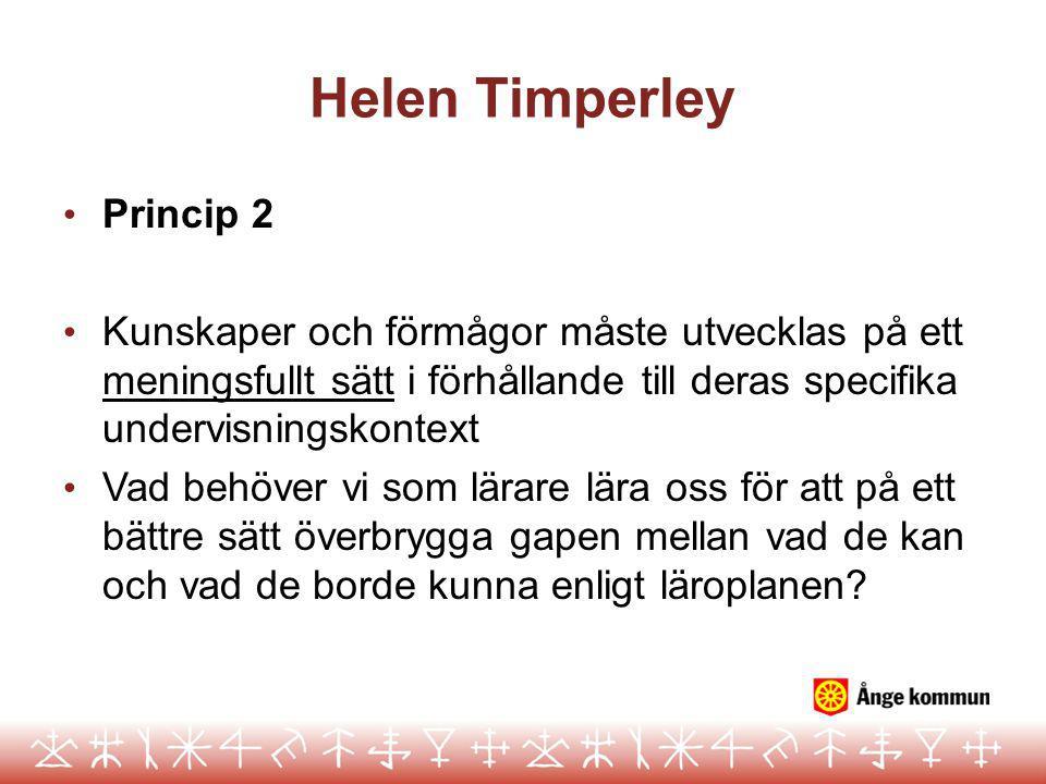 Helen Timperley Princip 2