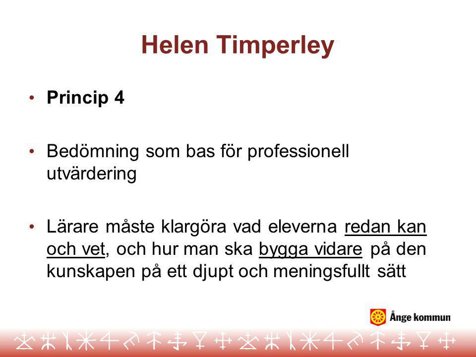 Helen Timperley Princip 4