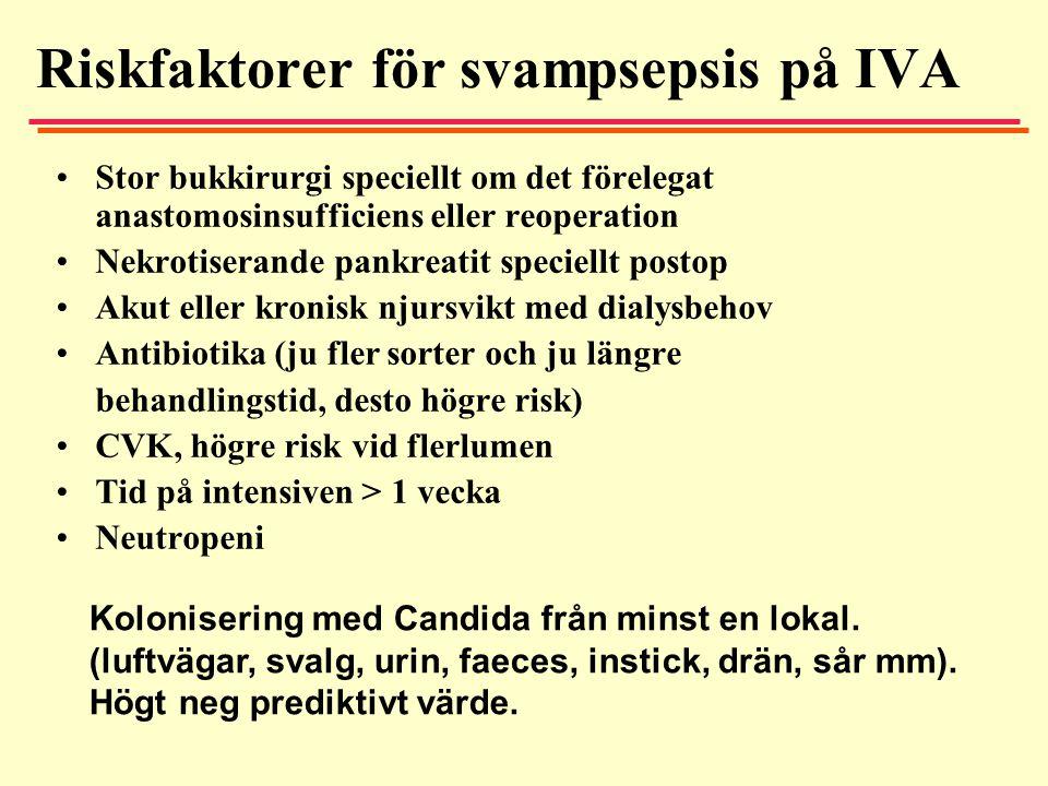 Riskfaktorer för svampsepsis på IVA