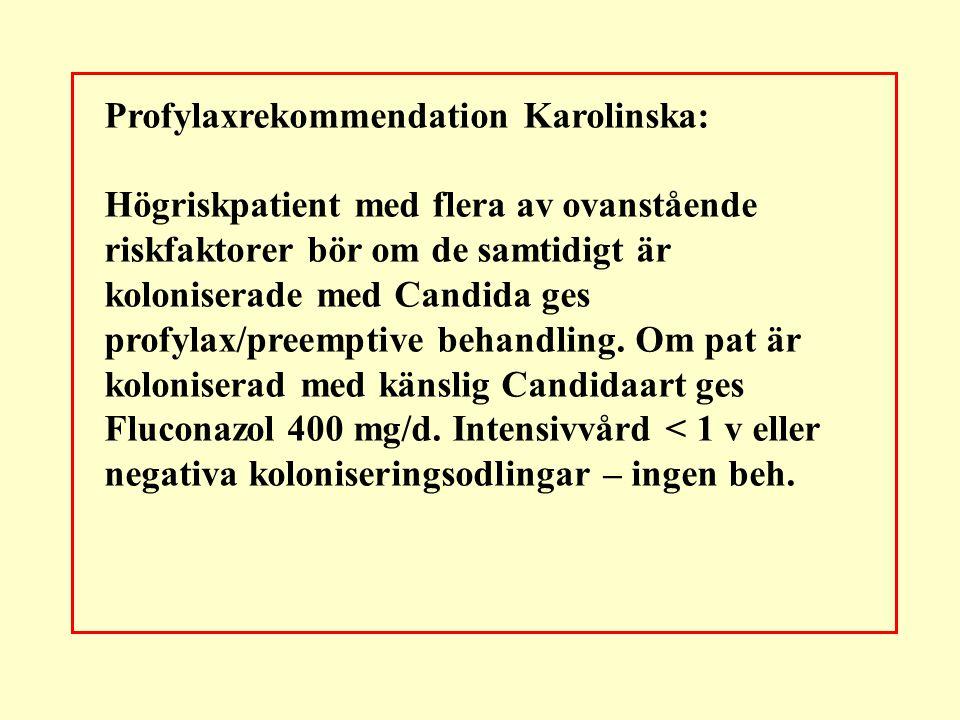 Profylaxrekommendation Karolinska: