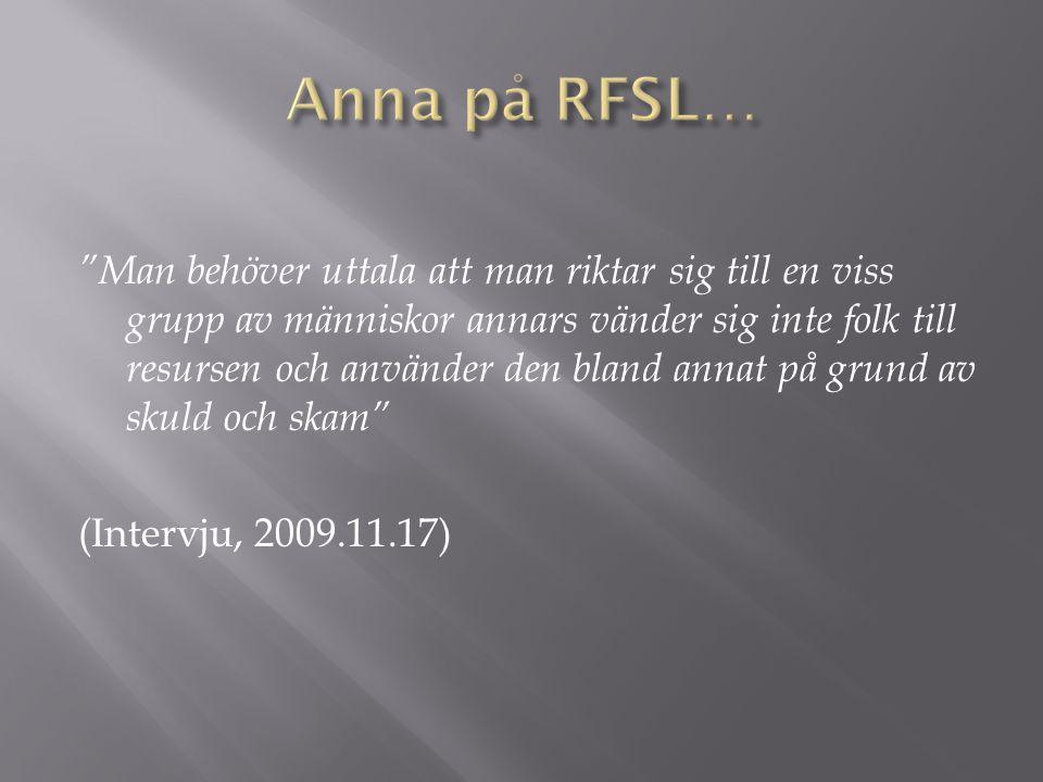 Anna på RFSL…