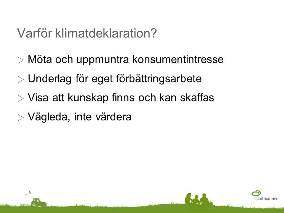 Varför klimatdeklaration