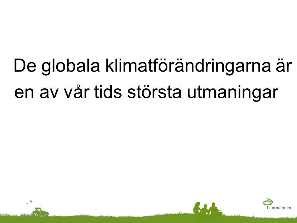De globala klimatförändringarna är en av vår tids största utmaningar