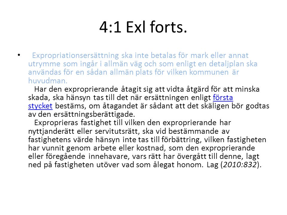 4:1 Exl forts.