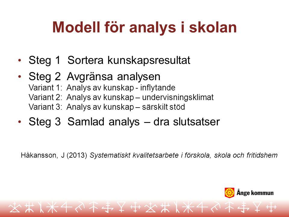 Modell för analys i skolan