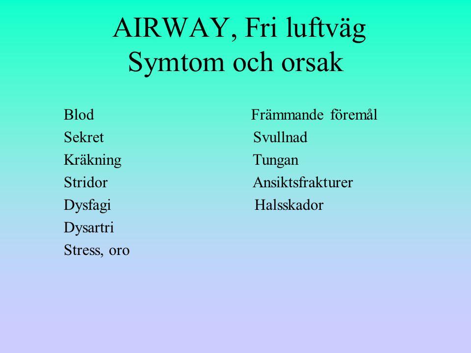 AIRWAY, Fri luftväg Symtom och orsak