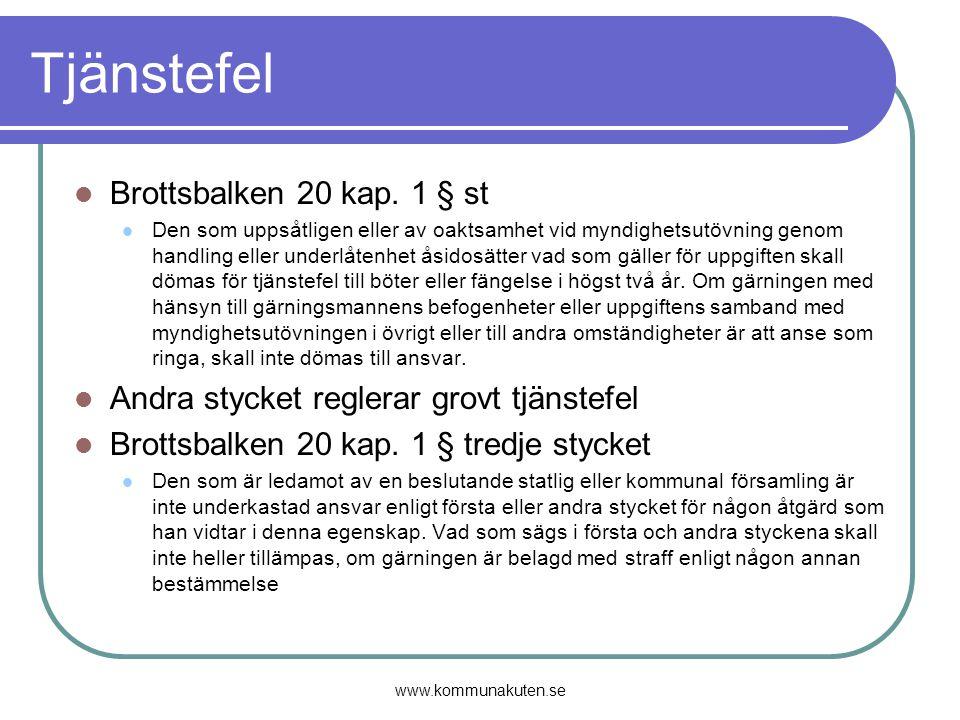 Tjänstefel Brottsbalken 20 kap. 1 § st