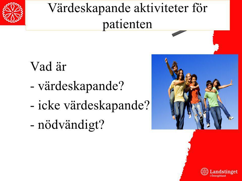 Värdeskapande aktiviteter för patienten