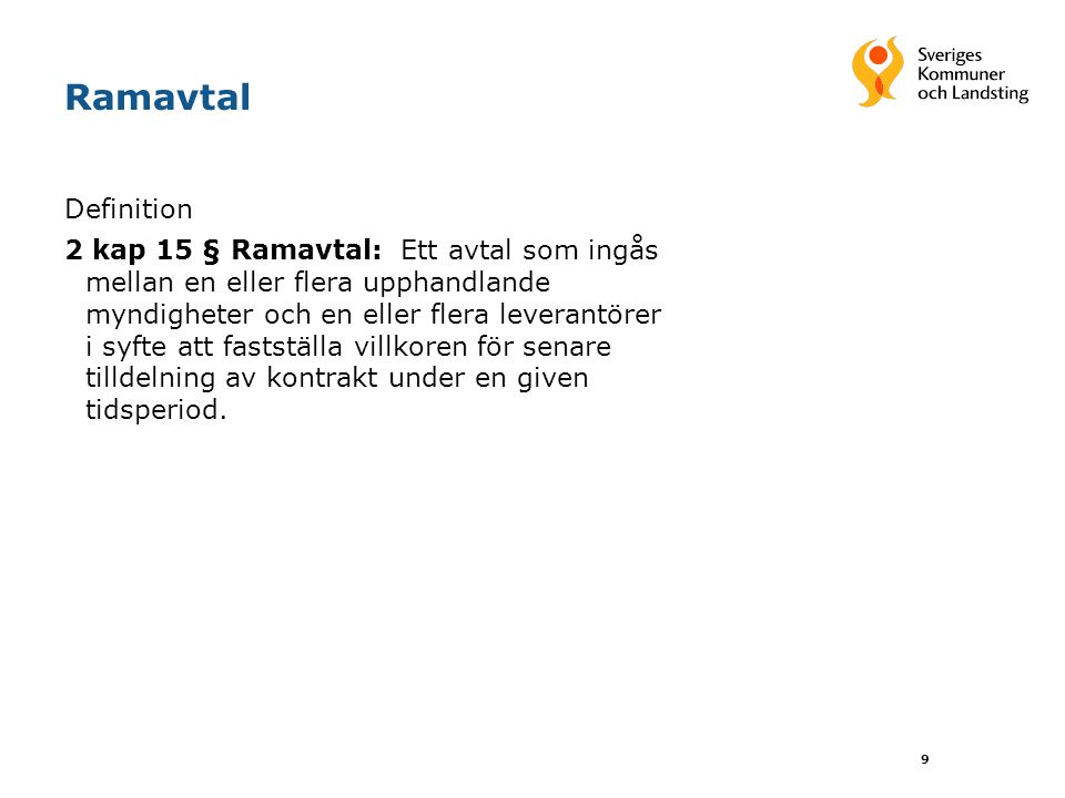Ramavtal Definition.