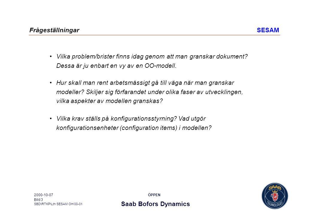 Frågeställningar SESAM